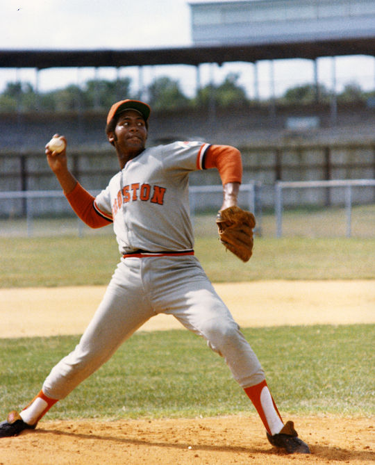 1969 was one of Don Wilson's best seasons, as he struck out 235 batters in 225 innings pitched. (National Baseball Hall of Fame and Museum)