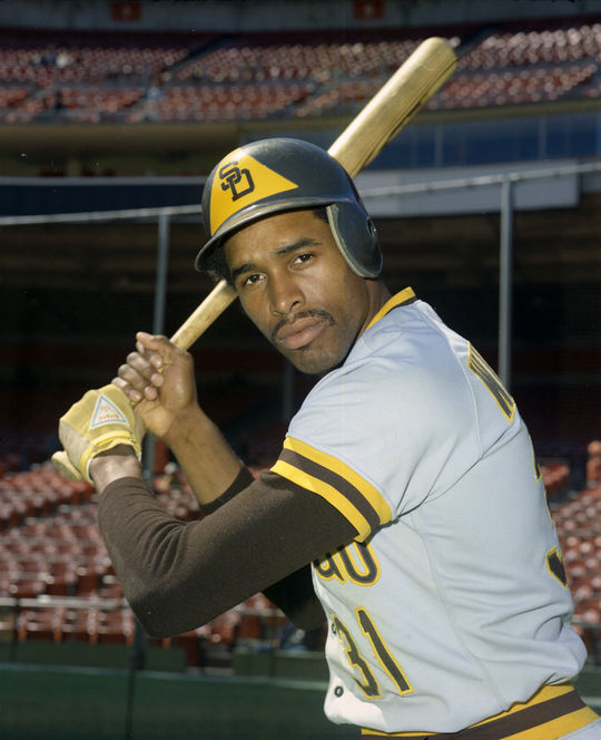 Dave Winfield pictured in 1974, the season following his MLB debut. The Hall of Fame slugger skipped the minor leagues entirely, entering the big leagues after he was drafted by the Padres in 1973. (Doug McWilliams / National Baseball Hall of Fame and Museum)