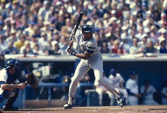 Dave Winfield at bat for the New York Yankees during the 1981 World Series. (Anthony Neste / National Baseball Hall of Fame Library)
