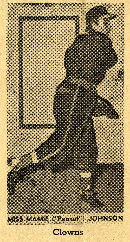 """Mamie """"Peanut"""" Johnson was one of three women to play for Indianapolis Clowns of the Negro American League. (National Baseball Hall of Fame)"""