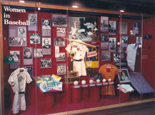 The Museum's original <em>Women in Baseball</em> exhibit opened on Nov. 5, 1988. (National Baseball Hall of Fame and Museum)