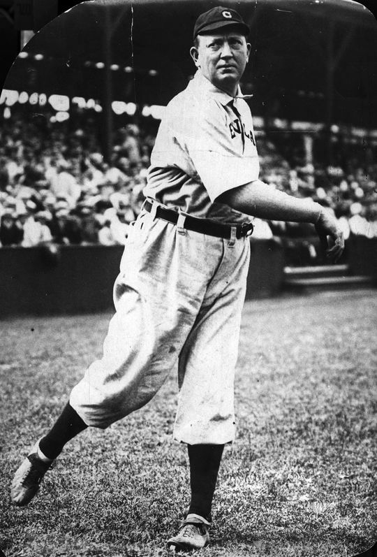 Cy Young still sits atop the record list for all-time career wins, with 511. He played in the major leagues for 22 seasons. (Charles Conlon / National Baseball Hall of Fame and Museum)