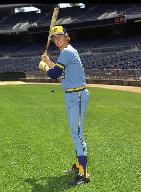 Robin Yount would play his entire career with the Milwaukee Brewers, from 1974 to his retirement following the 1993 season. (Doug McWilliams / National Baseball Hall of Fame and Museum)