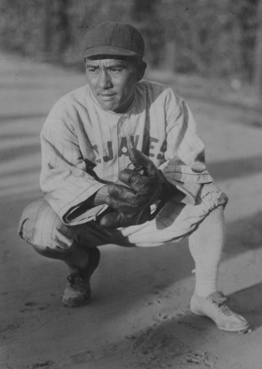 Kenichi Zenimura, pictured above, constructed three ballparks during his lifetime: the Fresno Japanese Ballpark in 1925, the Fresno Assembly Center in 1942, and Zenimura Field in Arizona in 1943. (Bill Staples Jr. / Nisei Baseball Research Project)