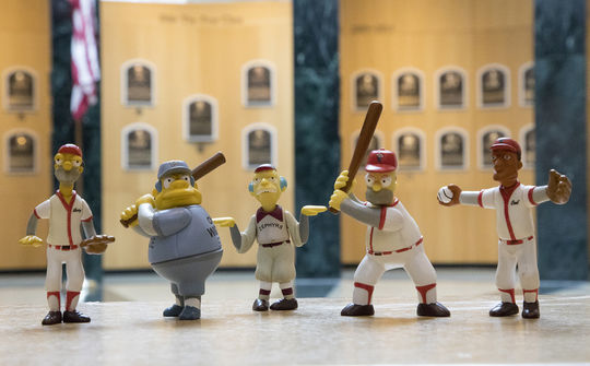 Homer Simpsons 'induction' ceremony into the Hall of Fame will be followed by an official ribbon-cutting on a <em>Simpsons</em>-themed exhibit display in the Museum. (Milo Stewart Jr. / National Baseball Hall of Fame)