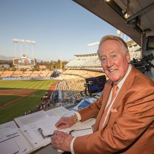 1982 Ford C. Frick Award Winner Vin Scully. (Jean Fruth / National Baseball Hall of Fame)