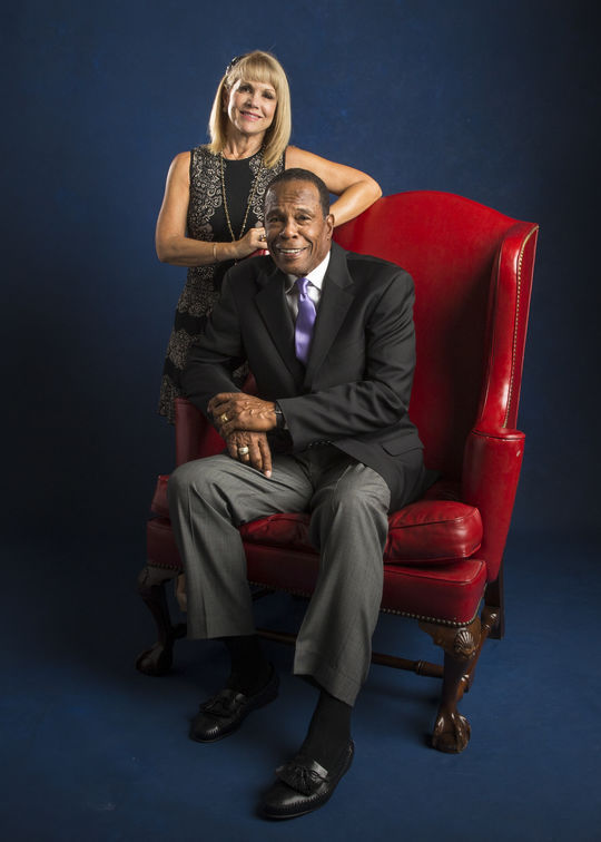 Hall of Famer Rod Carew and his wife Rhonda pose for a photo during the 2015 Hall of Fame Weekend in Cooperstown. (Jean Fruth / National Baseball Hall of Fame)