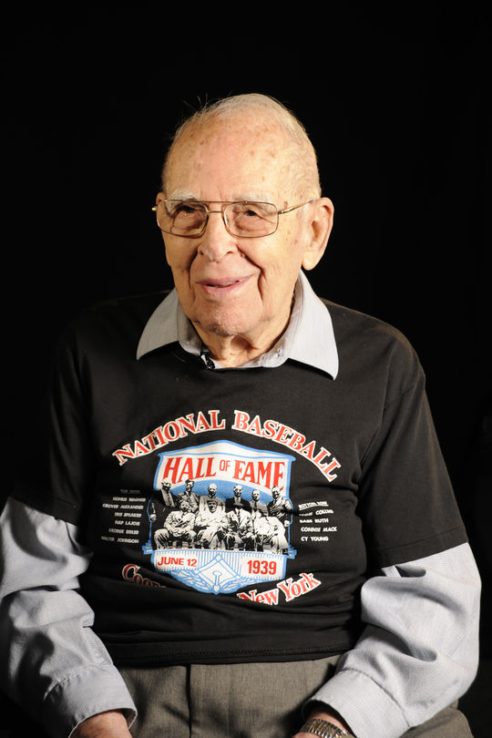 Homer Osterhoudt of Cooperstown attended every Hall of Fame Induction Ceremony through 2017, save for three when he was serving in World War II. (Milo Stewart Jr./National Baseball Hall of Fame and Museum)