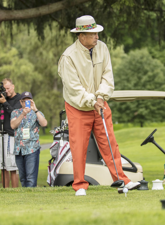 World Golf Hall of Famer Chi-Chi Rodríguez, pictured above, joined Iván Rodríguez on the Leatherstocking Golf Course for the 2017 Hall of Fame Golf Tournament. (Milo Stewart Jr. / National Baseball Hall of Fame and Museum)