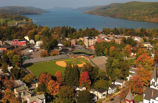 The Hall of Fame is located at 25 Main Street in Cooperstown, N.Y., a Central New York village of fewer than 2,000 year-round residents. (National Baseball Hall of Fame and Museum)