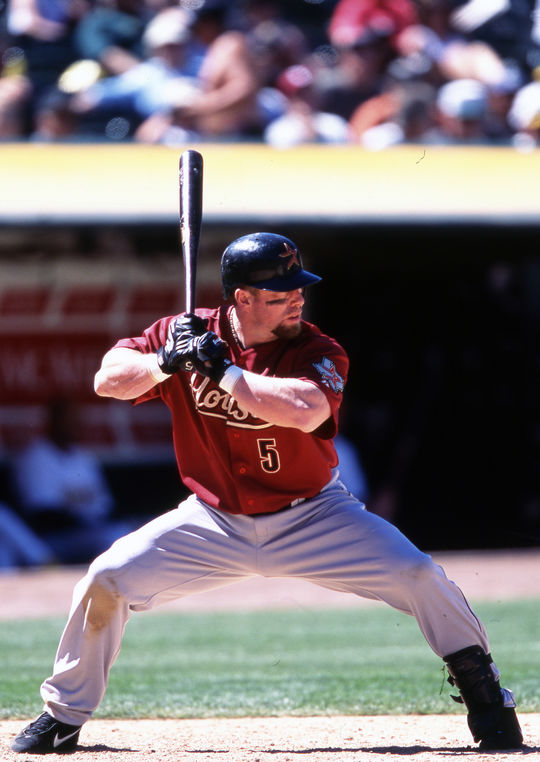 Jeff Bagwell played the entirety of his big league career with the Houston Astros, from 1991-2005. (Brad Mangin/National Baseball Hall of Fame and Museum)
