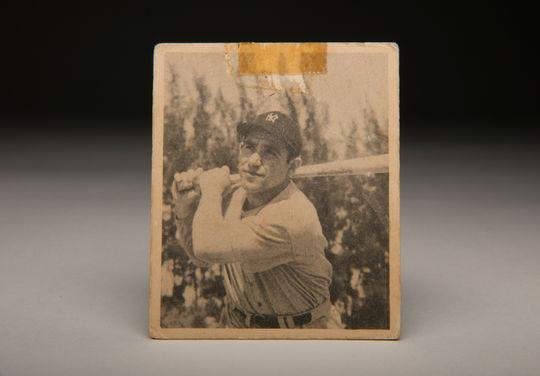 A baseball card of Hall of Famer, Yogi Berra. (Milo Stewart Jr. / National Baseball Hall of Fame)