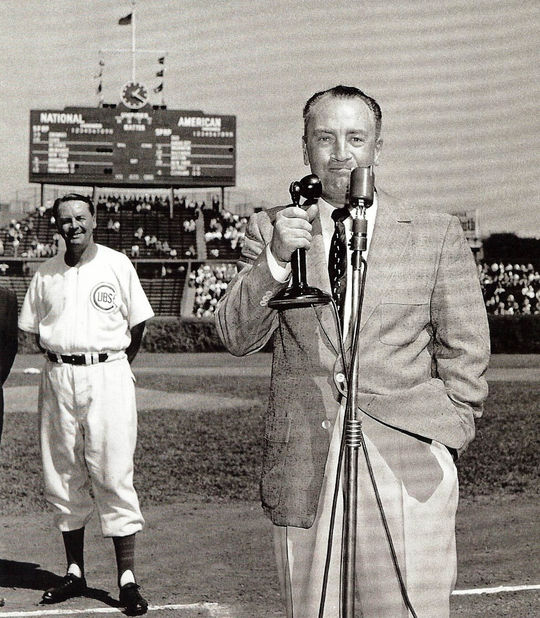 """Bert Wilson, longtime Cubs announcer renowned for phrase """"I don't care who wins, as long it is the Cubs."""""""