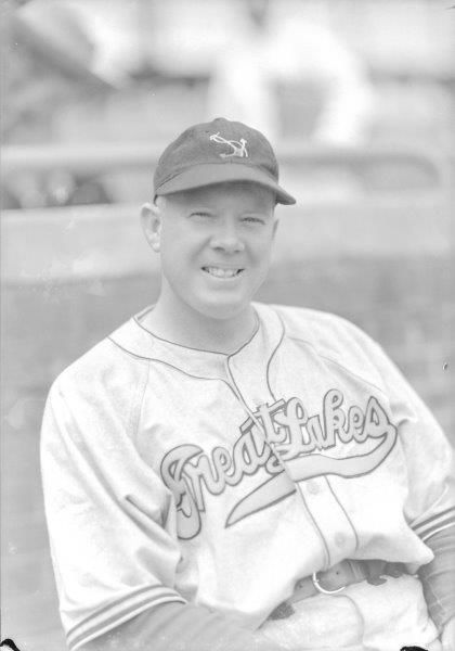 This image, taken by esteemed photographer George Burke, was taken while Don Padgett was serving as company commander at the Great Lakes Training Center. (George Burke/National Baseball Hall of Fame and Museum)