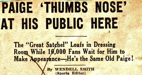 Headline from Wendell Smith article in the <cite>Pittsburgh Courier</cite>, June 26, 1943