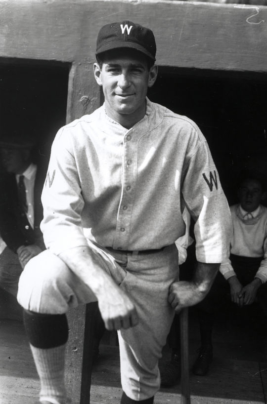 Bucky Harris, manager of the Washingon Senators, helped outfielder Mel Almada improve his hitting mechanics during Almada's time with the team in 1937 and 1938. (National Baseball Hall of Fame and Museum)
