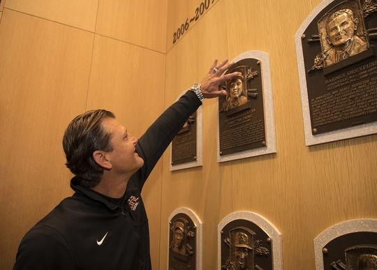 Hall Tour Humbles Hoffman Baseball Hall Of Fame