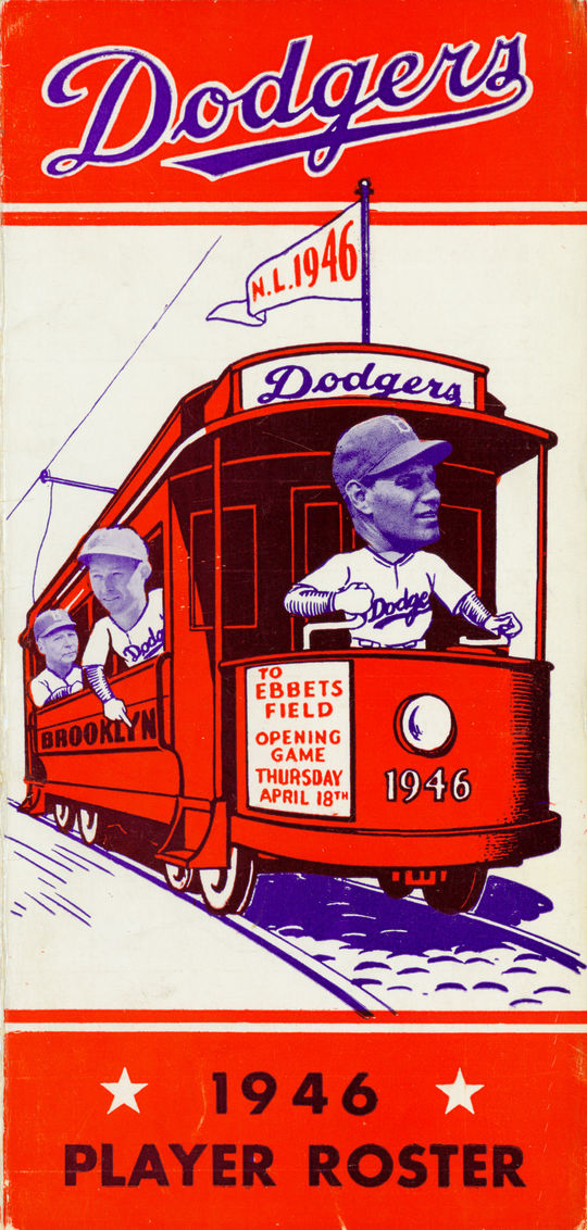 1946 Brooklyn Dodgers Spring Training roster cover. (National Baseball Hall of Fame Library)