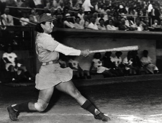 Mickey Maguire, Muskegon Lassies of the AAGPBL - BL-5725-89 (National Baseball Hall of Fame Library)