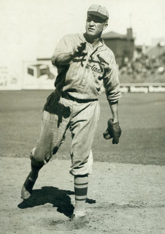 St. Louis Cardinals pitcher Grover Cleveland Alexander, c. 1926 road uniform - BL-3457-63 (National Baseball Hall of Fame Library)