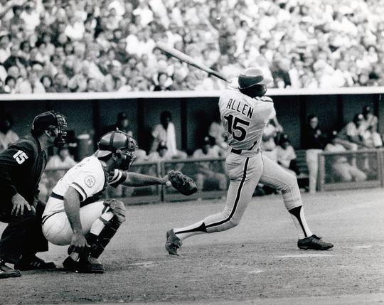 Dick Allen of the Philadelphia Phillies batting - BL-6436-76 (Bob Bartosz/National Baseball Hall of Fame Library)