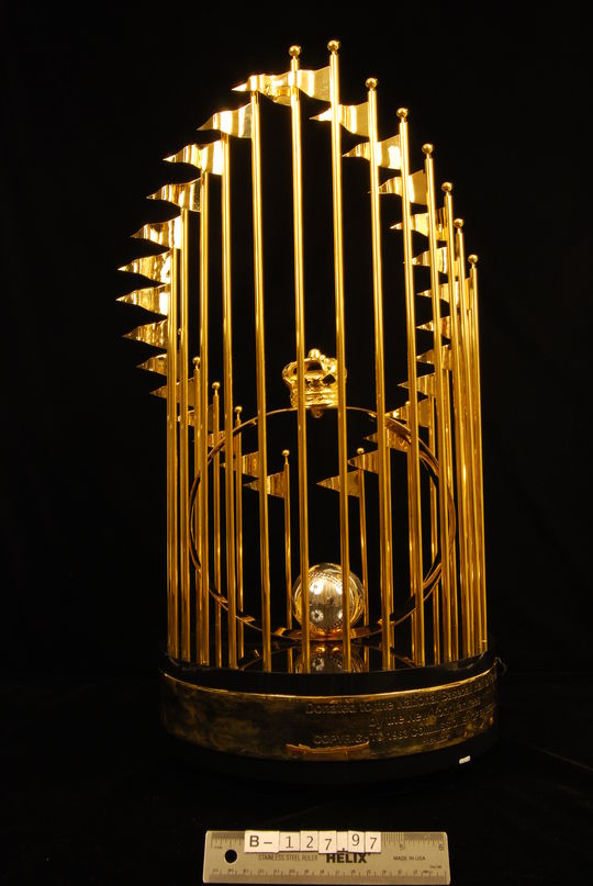 Replica World Series trophy, 1996 - B-127-97 (Milo Stewart Jr./National Baseball Hall of Fame Library)