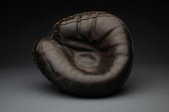 Catcher's mitt used by Mickey Cochrane - B-438-66 (Milo Stewart Jr./National Baseball Hall of Fame Library)