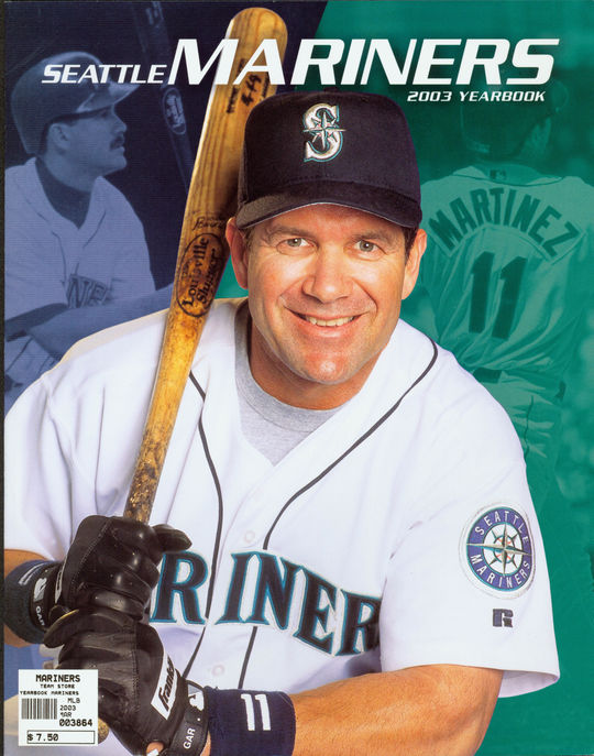 Seattle Mariners 2003 Yearbook - Edgar Martinez on cover. - BL-141-2012-8 (National Baseball Hall of Fame Library)