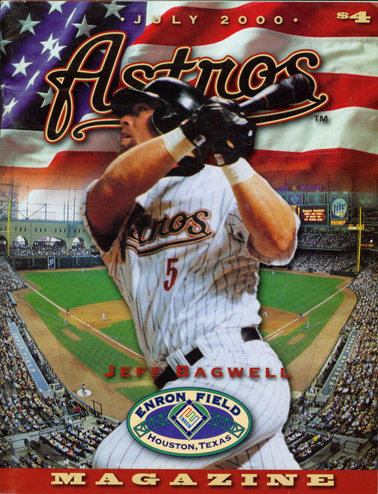 July 2000 Astros Magazine featuring Jeff Bagwell on the cover. - BL-512-2011-56 (National Baseball Hall of Fame Library)