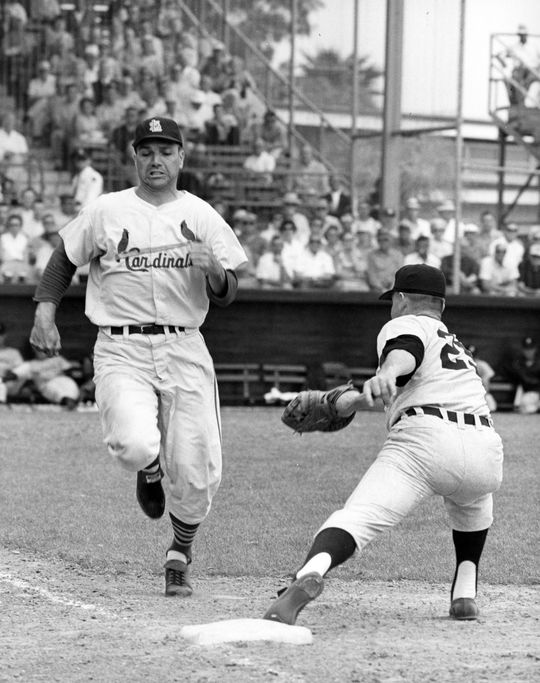 Ken Boyer of the St. Louis Cardinals running to first base - BL-505-70a (National Baseball Hall of Fame Library)