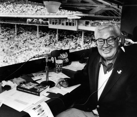 1989 Ford C. Frick Award Winner Harry Caray - BL-1799-89 (National Baseball Hall of Fame Library)