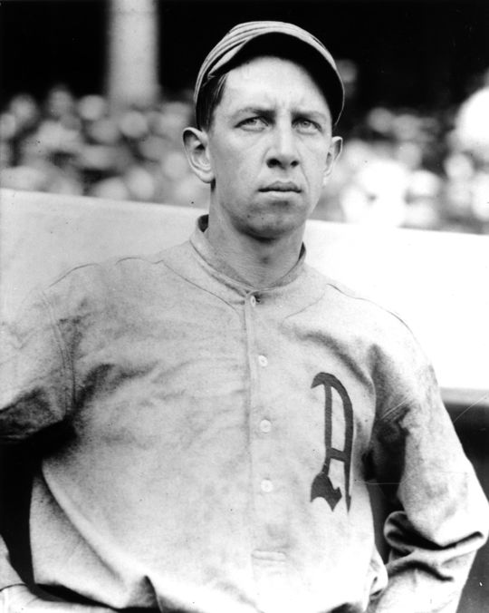 1939 Hall of Fame inductee Eddie Collins in his Philadelphia Athletics uniform. BL-4181.99