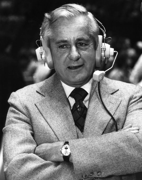 1984 Ford C. Frick Award Winner Curt Gowdy - BL-3419-84 (National Baseball Hall of Fame Library)