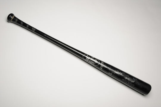 Bat used by Ken Griffey Jr. during his streak of 8 home runs in 8 games in 1993. B-124.93 (Milo Stewart, Jr. / National Baseball Hall of Fame)