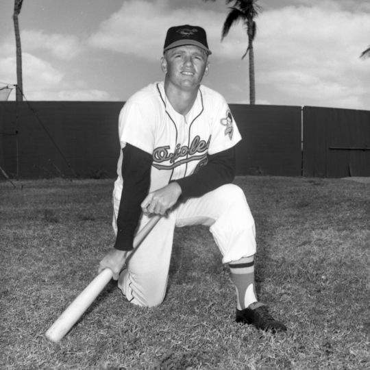 Hall of Famer Whitey Herzog played for the Baltimore Orioles in 1961 and 1962. BL-2636.69g (National Baseball Hall of Fame Library)