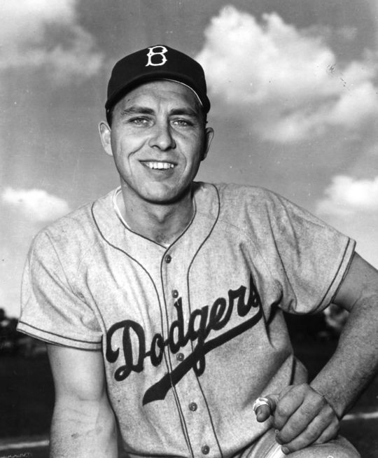Gil Hodges of the Brooklyn Dodgers - BL-764-76 (National Baseball Hall of Fame Library)