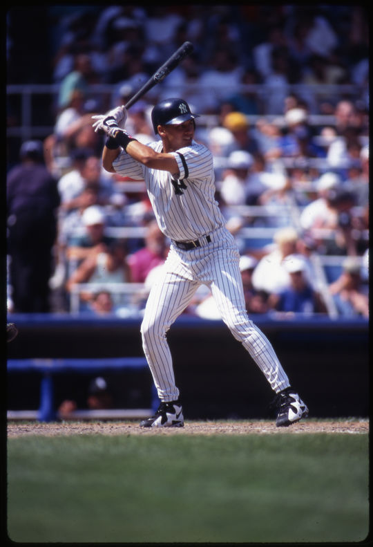 Derek Jeter of the New York Yankees in his rookie year, August 1996 - BL-2152-97 (Michael Ponzini/National Baseball Hall of Fame Library)