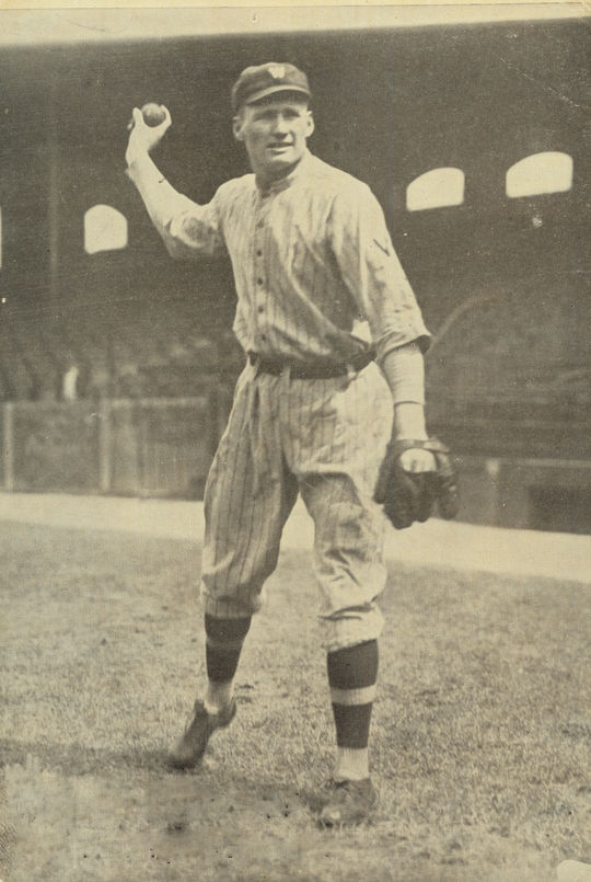 Walter Johnson's easy sidearm pitching motion juxtaposed with his fastball, which carried a velocity that had rarely been seen before in baseball. BL-1026-70 (National Baseball Hall of Fame Library)