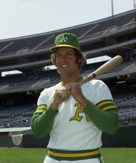 Jay Johnstone of the Oakland A's. BL-OA73-93 (Doug McWilliams / National Baseball Hall of Fame Library)
