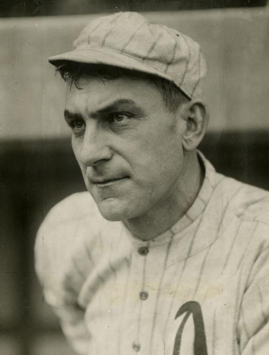 Napoleon Lajoie of the Philadelphia Athletics. BL-1505-68WT (Charles Conlon / National Baseball Hall of Fame Library)
