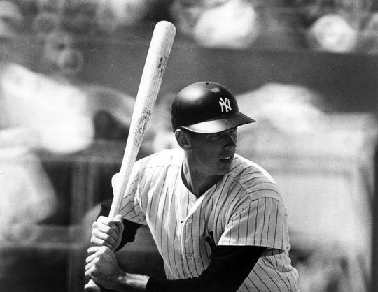 New York Yankees shortstop Gene Michael at bat during game, 1969. BL-4474-69 (National Baseball Hall of Fame Library)