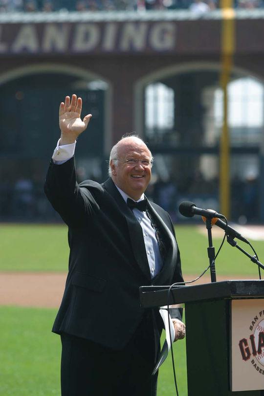 2010 Ford C. Frick Award Winner Jon Miller - BL-9-2011-17 (Andy Kuno/National Baseball Hall of Fame Library)