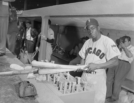 Minnie Minoso of the Chicago White Sox - BL-1596-t (Osvaldo Salas/National Baseball Hall of Fame Library)