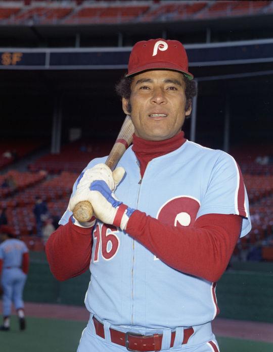 Jose Pagan of the Philadelphia Phillies, 1973. BL-PA73-1032 (Doug McWilliams / National Baseball Hall of Fame Library)