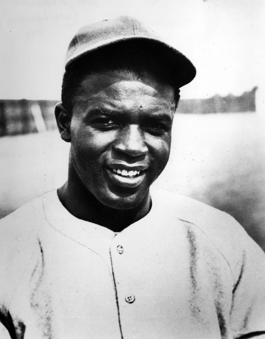 Head and shoulders photo of a young Jackie Robinson during Spring Training 1946. - BL-2739-89 (National Baseball Hall of Fame Library)