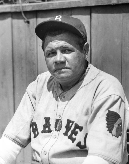 The Babe with the Boston Braves in his final year as a major league ballplayer, 1935. BL-3710.70c (National Baseball Hall of Fame Library)