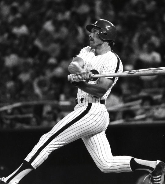 Mike Schmidt of the Philadelphia Phillies batting in-game. - BL-1940-2002 (National Baseball Hall of Fame Library)