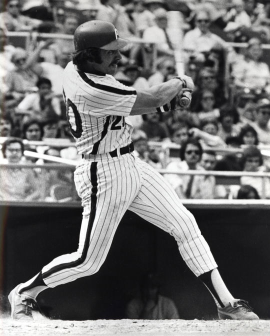 In 1974, Mike Schmidt led the National League in home runs with 36 and earned the first of what would be 12 All-Star Game selections in his career. BL-1941-2002 (National Baseball Hall of Fame Library)