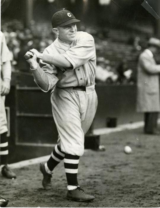 Joe Sewell batting. BL-3286-68WTP (Charles Conlon / National Baseball Hall of Fame Library)