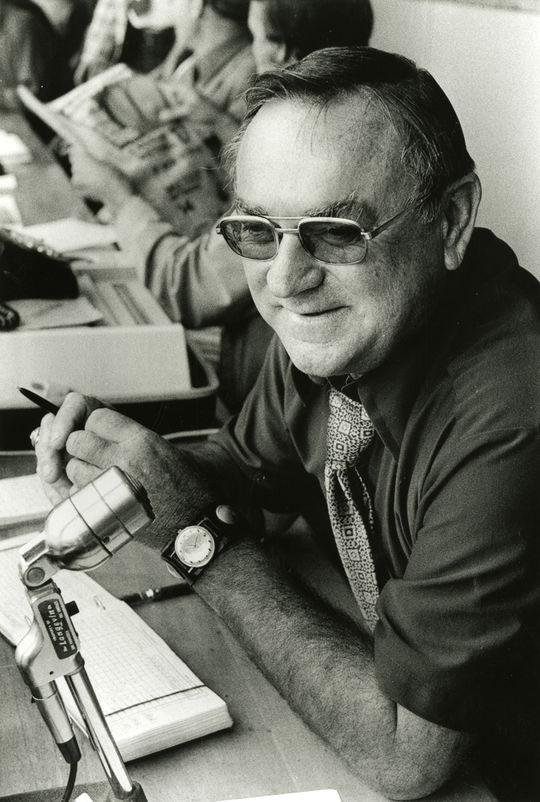 1998 J.G. Taylor Spink Award winner Bob Stevens. - B-92-99 (<em>San Francisco Chronicle</em> / National  Baseball Hall of Fame Library)